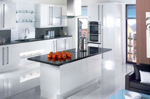 Black-granite-kitchen-top