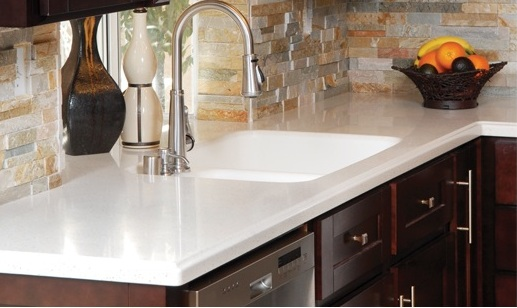 Kitchen countertops renovation malaysia for Solid surface counters