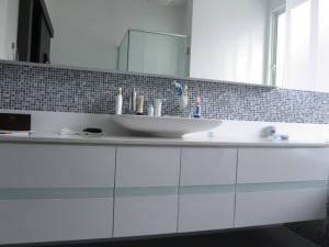 Modern bathroom cabinets and counter top