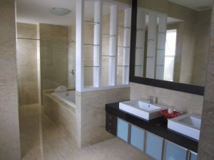 Feature Wall in Bathroom